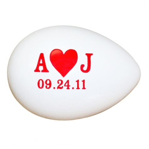 A Heart J Wedding Egg Shakers